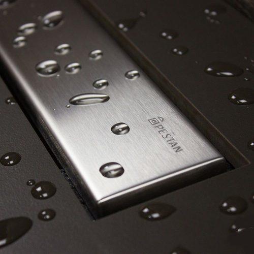 Confluo Frameless Line zuhanyfolyóka, 1150mm szélesség, Öntisztító S szifon, elburkolható vagy króm szín, 48liter/perc átfolyás, szivárgásmentes