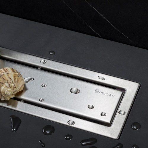 Confluo Premium Line zuhanyfolyóka, 850mm szélesség, Öntisztító S szifon, elburkolható vagy króm szín, 48liter/perc átfolyás, szivárgásmentes