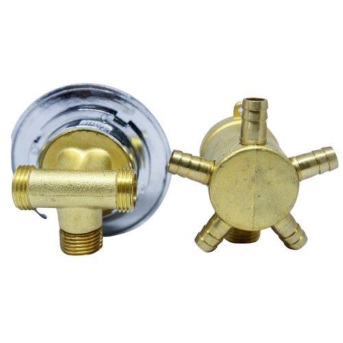 AquaMaxx 5 funkciós 2 részes funkcióváltó csaptelep szett, csaptelep részek fél colos összekötése, slagos funkcióváltó csatlakozás, vizes vezérlő
