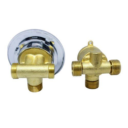 AquaMaxx 2 funkciós 2 részes funkcióváltó csaptelep szett, csaptelep részek fél colos összekötése, fél colos funkcióváltó csatlakozás, vizes vezérlő