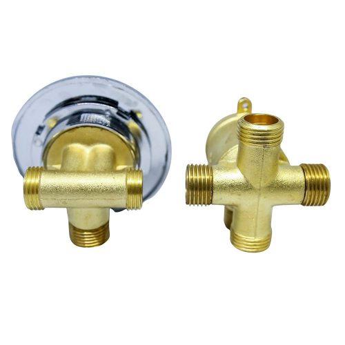 AquaMaxx 4 funkciós 2 részes funkcióváltó csaptelep szett, csaptelep részek fél colos összekötése, fél colos funkcióváltó csatlakozás, vizes vezérlő