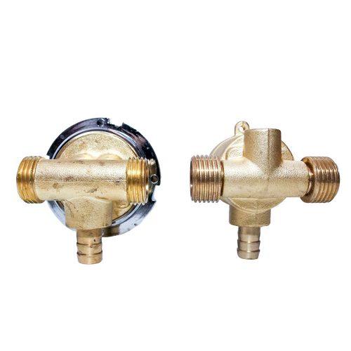 AquaMaxx 2 funkciós 2 részes funkcióváltó csaptelep szett, csaptelep részek slagos összekötése, fél colos funkcióváltó csatlakozás, vizes vezérlő