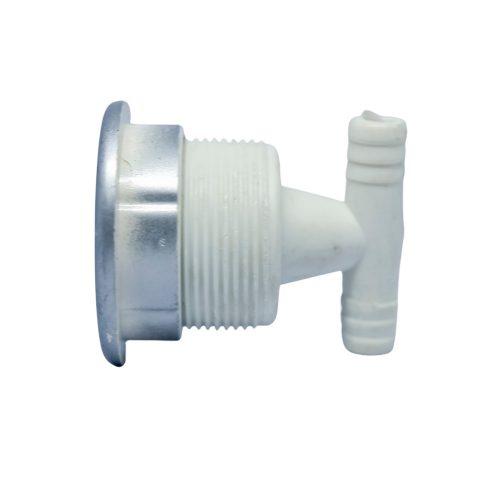 AquaMaxx hidromasszázs zuhanykabin fúvóka 1 masszázs lyukkal, 2 nyitott slagos csatlakozási véggel