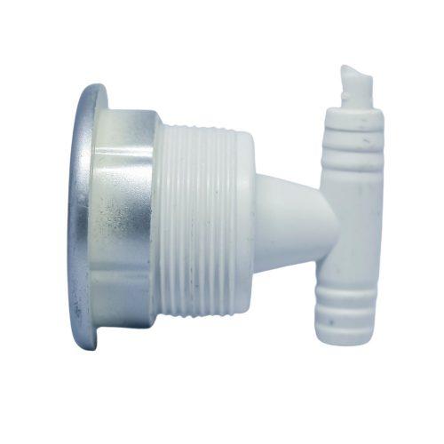 AquaMaxx hidromasszázs zuhanykabin fúvóka 1 masszázs lyukkal, 1 nyitott és 1 zárt slagos csatlakozási véggel