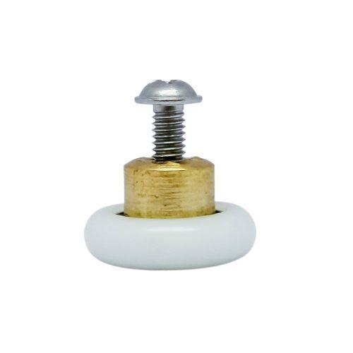 Aquamaxx zuhanykabin görgő kerék, 19mm kerékátmérővel, 4mm menetes szár, kiálló rézcsonk, M4 csavar