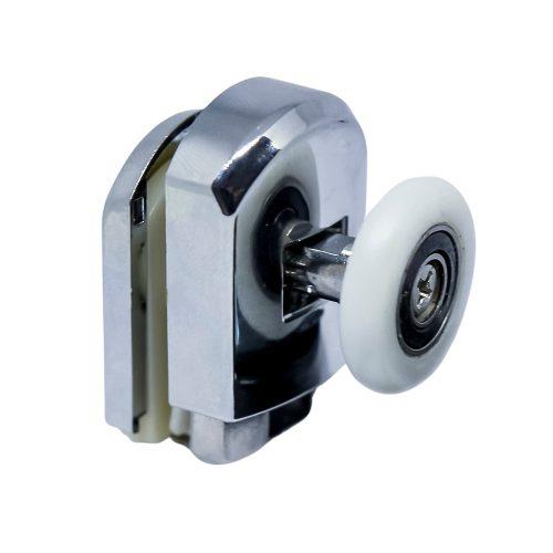 Aquamaxx szimpla kerekes rugós alsó zuhanykabin görgő, rugós beállítás, 26mm kerékátmérő, 12mm üvegfurat, nem rozsdamentes csapágyazott kerék