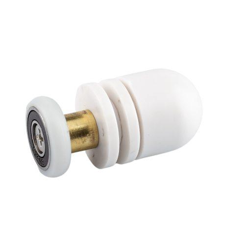 Aquamaxx szimpla kerekes zuhanykabin görgő, excenteres beállítás, 19mm kerékátmérő, extrém rozsdamentes csapágyazott szerelt kerékkel