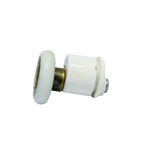 AquaMaxx szimpla kerekes excenteres beállítású zuhanykabin görgő, 25mm kerékátmérő, 12mm üvegfurat, nem rozsdamentes kerék