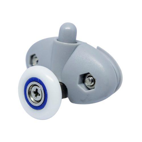 AquaMaxx alsó rugós szimpla zuhanykabin görgő, 30mm a furatok távolság, 21mm kerékátmérő, rozsdamentes kerék