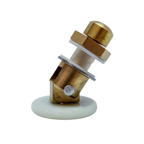AquaMaxx csuklós szimpla zuhanykabin görgő, 24mm kerékátmérő, 8mm üvegfurat, 4mm kerékvastagság, nem rozsdamentes kerékkel