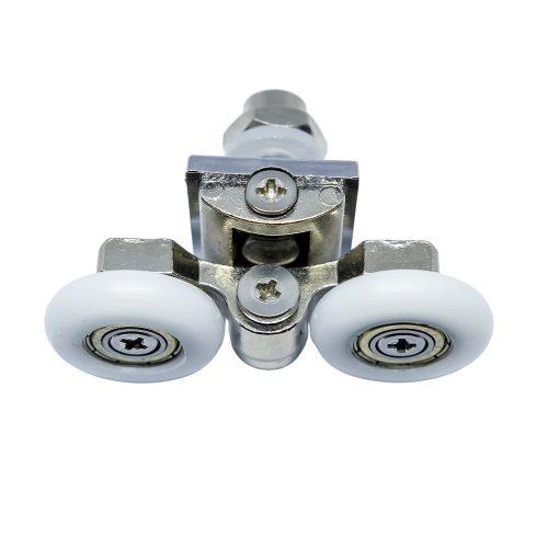 AquaMaxx dupla kerekes zuhanykabin görgő, beállítás csillagcsavarral, 26mm kerékátmérő, rozsdamentes kerékkel szerelve
