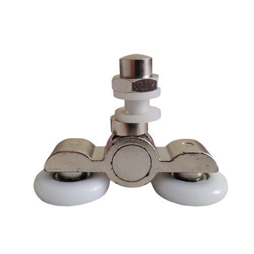 AquaMaxx dupla kerekes zuhanykabin görgő, excenteres beállítás, 19mm kerékátmérő, rozsdamentes kerékkel szerelve