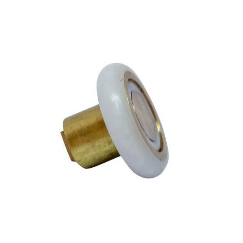AquaMaxx zuhanykabin görgő kerék, 19mm kerékátmérő, 4,2mm kerékvastagság, 9mm rézcsonk magasság, M4 csavar