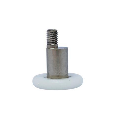 AquaMaxx excenteres zuhanykabin görgő, 4mm kerékvastagság, 21mm kerékátmérő, 7,5mm menetes szár hossz, fémcsonk magasság 12mm, fémcsonk átmérő 9mm