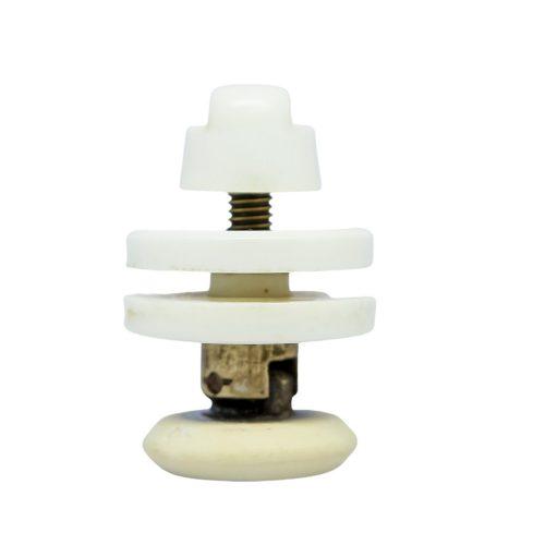 AquaMaxx csuklós szimpla zuhanykabin görgő, 19mm-29mm kerékátmérő, 10mm üvegfurat, 21mm kerék-üveg távolság, Rozsdamentes és nem rozsdamentes kerékkel