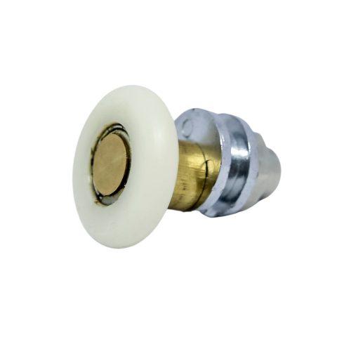 AquaMaxx szimpla kerekes excenteres beállítású zuhanykabin görgő, 25mm kerékátmérő, 8mm-10mm-12mm üvegfurat, Rozsdamentes és nem rozsdamentes kerék
