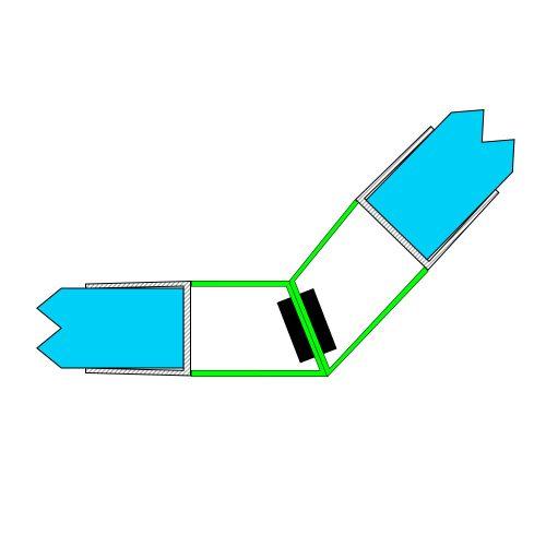 AquaMaxx zuhanykabin mágneszár 135 fokos kapcsolódás, 5mm üvegvastagsághoz