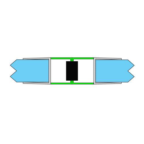 AquaMaxx zuhanykabin mágneszár 180 fokos kapcsolódás, 6mm üvegvastagsághoz