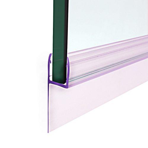 AquaMaxx oldalsó zuhanykabin vízzáró gumi, 17mm és 25mm szakál szélesség, 5mm üvegvastagsághoz